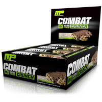 MusclePharm, Combat Crunch, Chocolate Chip Cookie Dough, 12 Bars - 2.22 oz (63 g) each