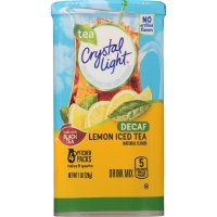 Crystal Light, Crystal Light Drink Mix, Lemon Decaf Tea, Pitcher Packs - 1.0 oz (28 g)
