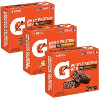 Gatorade, Whey Protein Recover Bars, Variety Pack, 12 Count - 2.8 oz (20 g) each