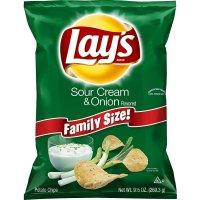 Lay's, Sour Cream & Onion Flavored, Potato Chips, 9.5 oz (269.3 g)