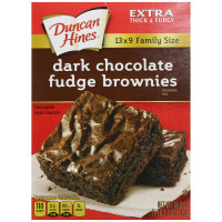 Duncan Hines, Brownie Mix, Dark Chocolate Fudge - 18.2 oz (515 g)