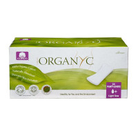 Organyc, Organic Cotton Panty Liners for Sensitive Skin, LIGHT PLUS - 24 Count