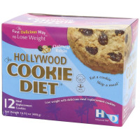 Hollywood Diet, Meal Replacement Cookies, Oatmeal Raisin, 12 pack - 16.93 oz (480 g)