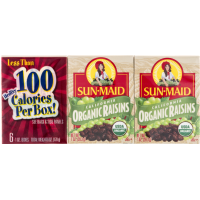 Sun-Maid, Organic Raisins, 6 Count - 1 oz (28.3 g) each