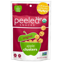 Peeled Snacks, Organic Original Apple Clusters, Apple Crunch - 2.1 oz (60 g) x 4 Packs