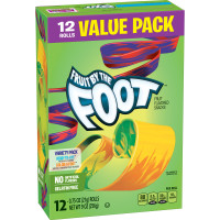 Fruit By The Foot, Fruit Flavored Snacks Variety Pack, 12 Rolls - 0.75 oz (21 g) each x 3