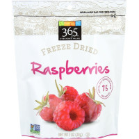 365 Everyday Value, Freeze Dried Raspberries - 1 oz (28 g) x 4 Packs