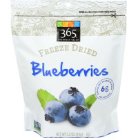 365 Everyday Value, Freeze Dried Blueberries - 1.2 oz (34 g) x 4 Packs