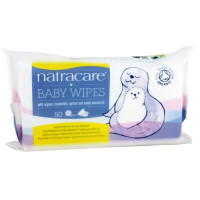 Natracare, Baby Wipes with Organic Chamomile, Apricot and Sweet Almond Oil - 50 Wipes