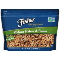 Fisher, Chef's Naturals Walnut Halves & Pieces - 16 oz (453 g)