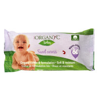 Organyc, Sweet Caress, Organic Cotton Baby Wipes - 60 Wipes