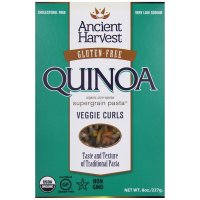 Ancient Harvest, Pasta, Quinoa Vegie Curls, Wheat Free - 8 oz (227 g)