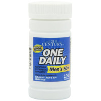 21st Century, One Daily, Men's 50+, Multivitamin Multimineral - 100 Tablets
