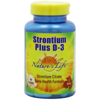 Nature's Life, Strontium Plus D-3 - 60 Tablets