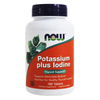 Now Foods, Potassium Plus Iodine - 180 Tablets