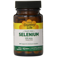 Country Life, Selenium, 100 mcg - 180 Tablets