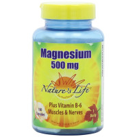 Nature's Life, Magnesium, 500 mg - 100 Capsules