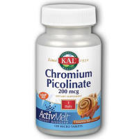 KAL, Chromium Picolinate ActivMelt, Cinnamon Bun - 120 Micro Tablets