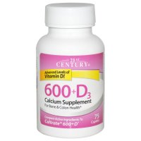 21st Century, 600+D3, Calcium Supplement - 75 Caplets