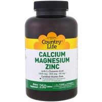 Country Life, Calcium Magnesium Zinc - 250 Tablets