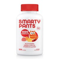 SmartyPants, Kids Complete Multivitamin Omega 3 Fish Oil Vitamin D3 and B12 - 120 Gummies
