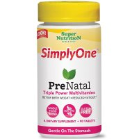 Super Nutrition, SimplyOne, PreNatal, Triple Power Multivitamins - 90 Tablets