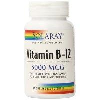 Solaray, Vitamin B-12, 5000 mcg - 30 Sublingual Lozenges