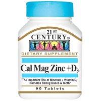 21st Century, Cal Mag Zinc + D3, 90 Tablets