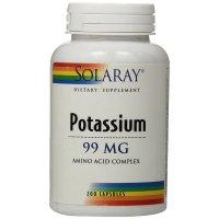 Solaray, Potassium, 99 mg - 200 Veggie Caps