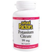 Natural Factors, Potassium Citrate, 99 mg - 90 Tablets