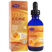 Life Flo Health, Liquid Iodine Plus Liquid Drops, Natural Orange Flavor - 2 fl oz (59 ml)