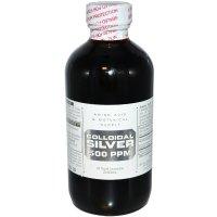 Amino Acid & Botanical Supply, Colloidal Silver, 500 ppm - 8 fl oz (240 ml)