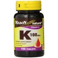 Mason Natural, Vitamin K, 100 mcg - 100 Tablets