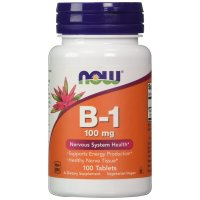 Now Foods, B-1, 100 mg - 100 Tablets