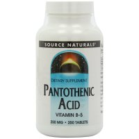 Source Naturals, Pantothenic Acid, Vitamin B-5, 250 mg - 250 Tablets