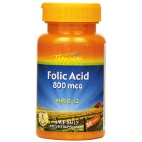 Thompson, Folic Acid, Plus B-12, 800 mcg - 30 Tablets