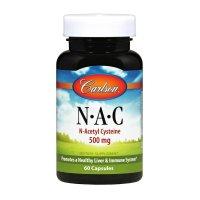 Carlson Labs, N-A-C, 500 mg - 60 Capsules