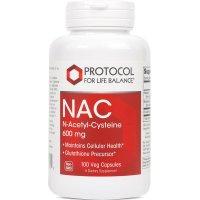 Protocol for Life Balance, NAC N-Acetyl-Cysteine, 600 mg - 100 Veg Capsules
