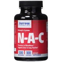 Jarrow Formulas, N-A-C, N-Acetyl-L-Cysteine, 500 mg - 100 Capsules