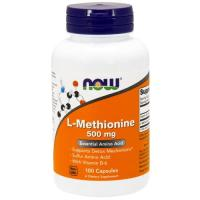 Now Foods, L-Methionine, 500 mg - 100 Capsules