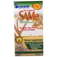 NutraLife, The Original SAMe (S-Adenosyl-L-Methionine) , 400 mg - 60 Enteric Coated Caplet