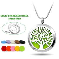 MagStax, Aromatherapy Diffuser Tree of Life Necklace Pendant with Chain (Pads, Pouch inclu