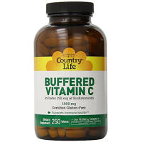 Country Life, Buffered Vitamin C, 1000 mg - 250 Tablets
