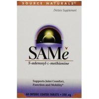Source Naturals,  SAM-e (S-Adenosyl-L-Methionine), 200 mg - 60 Enteric Coated Tablets