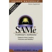 Source Naturals,  SAM-e (S-Adenosyl-L-Methionine), 400 mg - 30 Enteric Coated Tablets