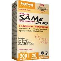 Jarrow Formulas, SAM-e (S-Adenosyl-L-Methionine) 200, 200 mg - 20 Enteric-Coated Tablets