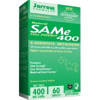 Jarrow Formulas, SAM-e (S-Adenosyl-L-Methionine) 400 - 60 Enteric-Coated Tablets