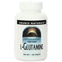 Source Naturals, L-Glutamine, 500 mg - 100 Tablets