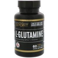 California Gold Nutrition, L-Glutamine, AjiPure, 1000 mg - 60 Veggie Caps