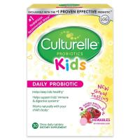 Culturelle, Kids Chewables Probiotics, Natural Bursting Berry Flavor - 30 Tablets